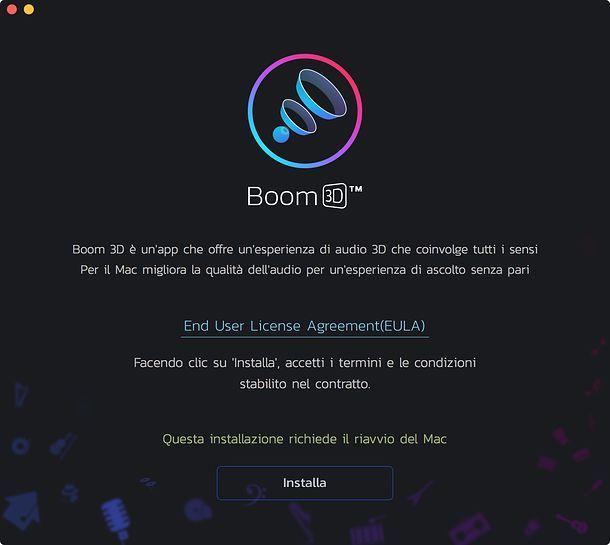 Installazione Boom 3D