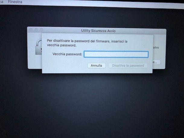 Come resettare password BIOS Mac