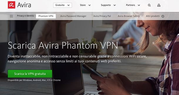 Download di Avira Phantom VPN Free