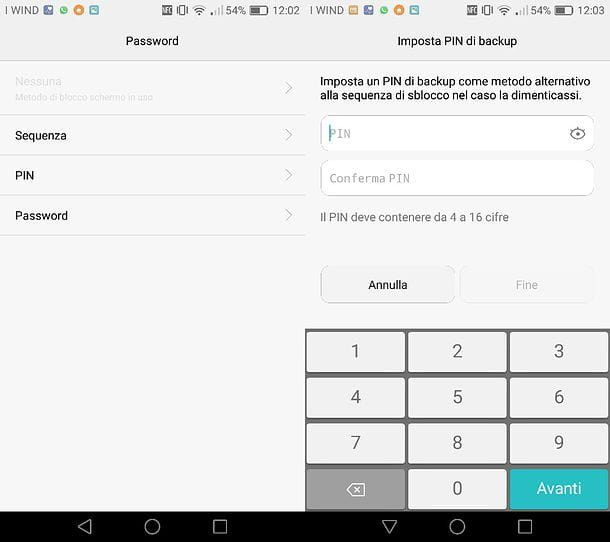 Come cambiare blocco schermo Huawei