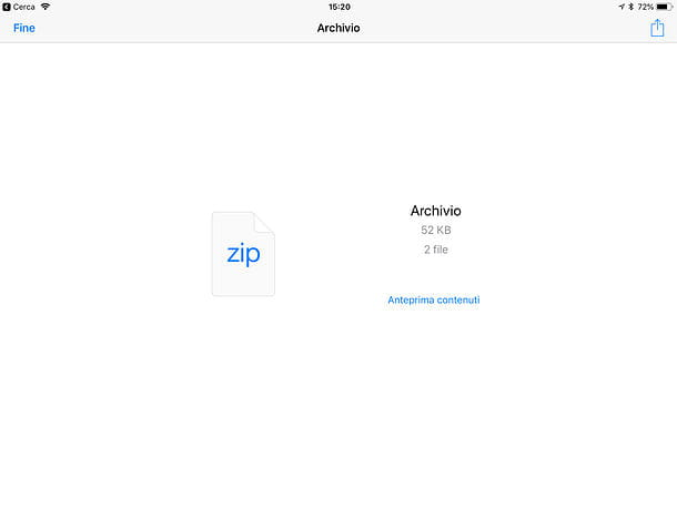 Come unzippare un file con iPad