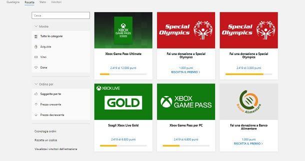 Microsoft Rewards Xbox Live Gold