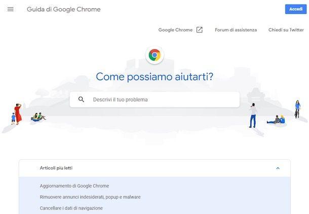 Come sbloccare popup Chrome