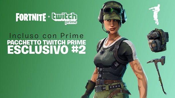 Come avere skin gratis Fortnite Twitch Prime