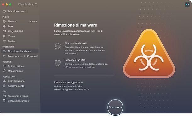 Protezione CleanMyMac X