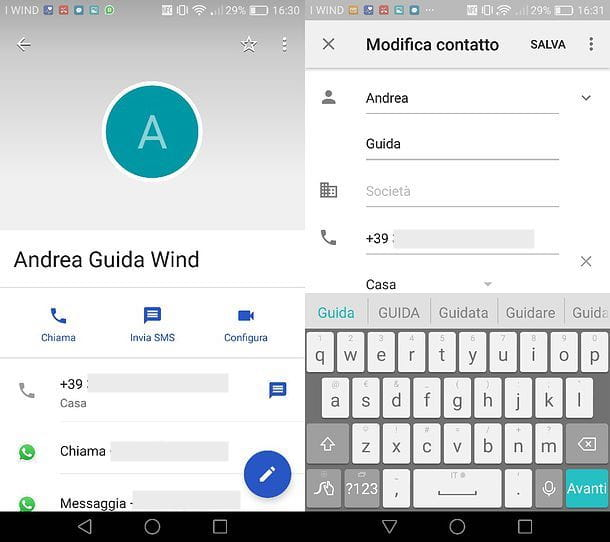 Come cambiare nome contatto su WhatsApp per Android