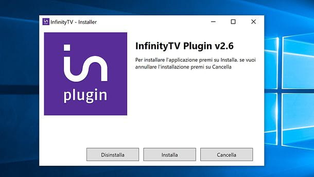 Installazione Infinity Windows
