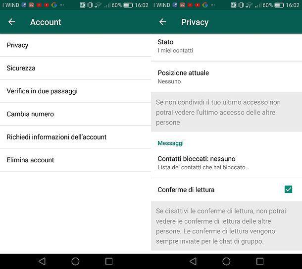 Come attivare la spunta blu su WhatsApp per Android