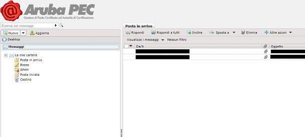 posta inviata da webmail aruba