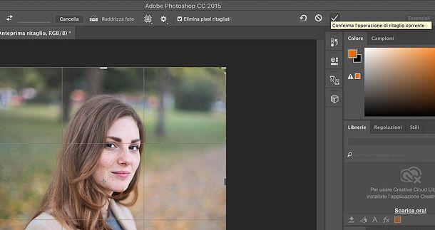 Come ritagliare un'immagine con Photoshop