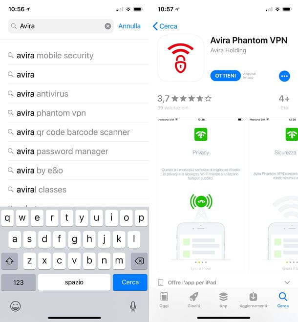 Download Avira Phantom VPN su iOS