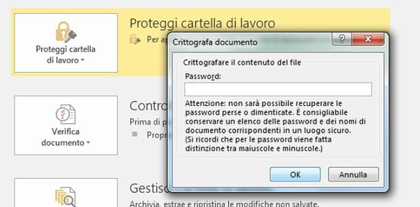 Come togliere la password ad un file Excel