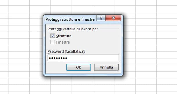 Come mettere la password ad un file Excel