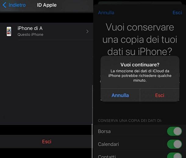 Come uscire da ID Apple iPhone