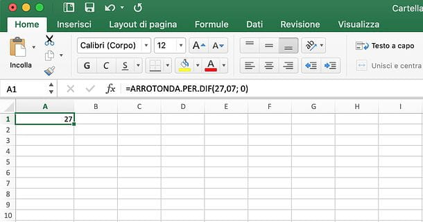 Come arrotondare in Excel per difetto