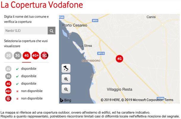 Copertura Vodafone mobile