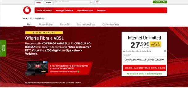 Offerte Vodafone fisso