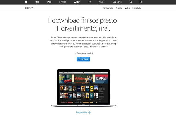 Come reinstallare iTunes su Mac