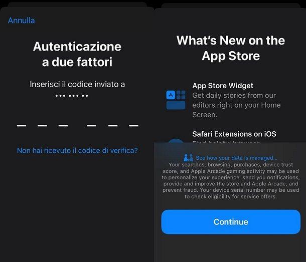 Autenticazione a due fattori iPhone