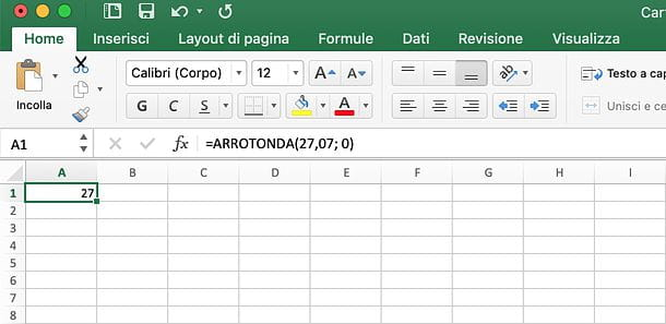 Come arrotondare in Excel