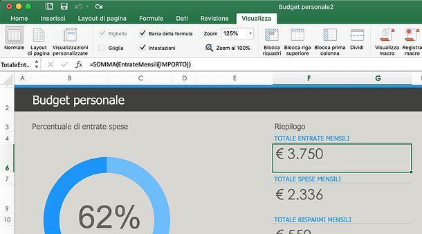 Come mostrare le formule su Excel per Mac