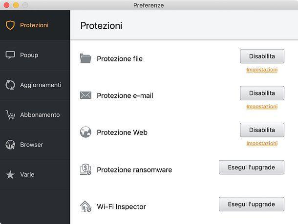 Come disattivare Avast su Mac