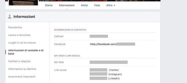Numero di telefono Facebook