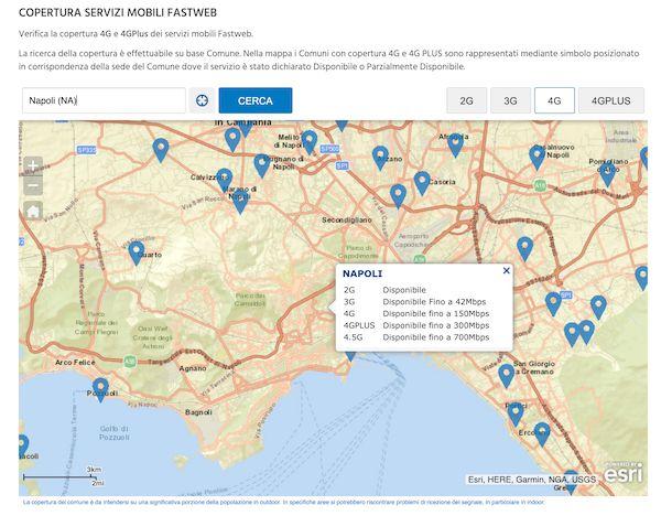 Verifica copertura Fastweb mobile