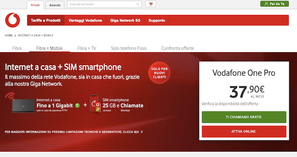 Vodafone Fibra + Mobile