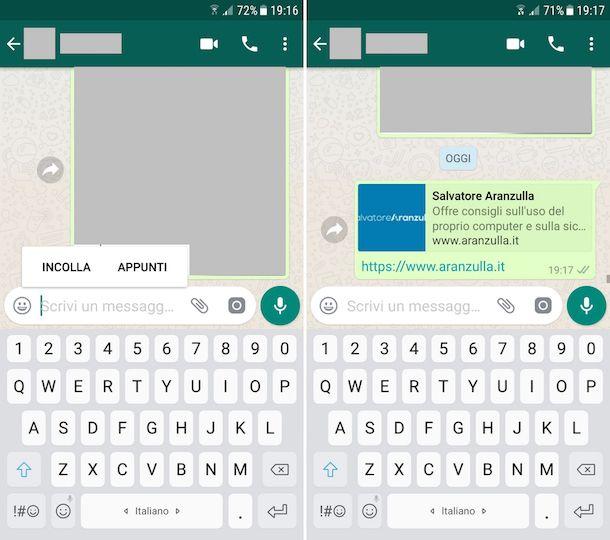 Come inviare link su WhatsApp