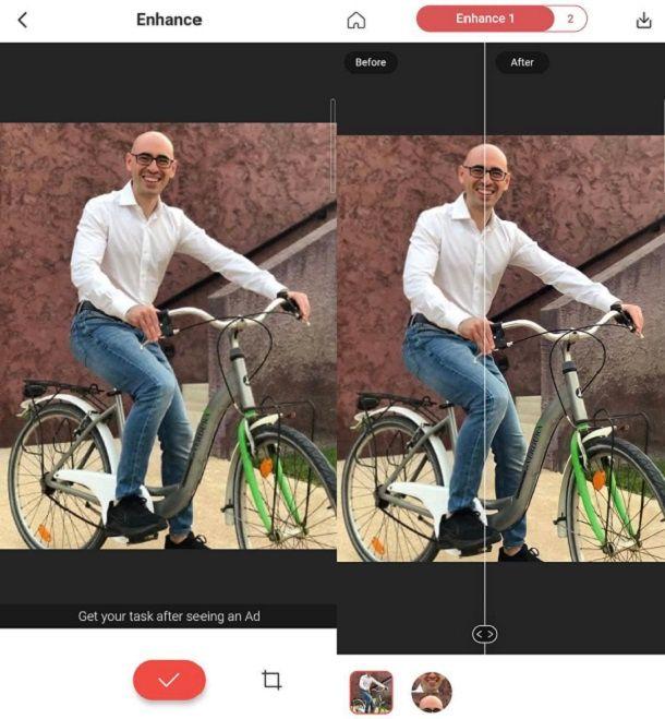 Come aumentare risoluzione foto app