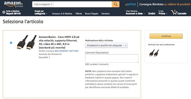 Come farsi rimborsare da Amazon