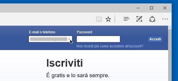 Come cancellare l'email dalla pagina iniziale di Facebook