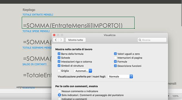 Excel per Mac