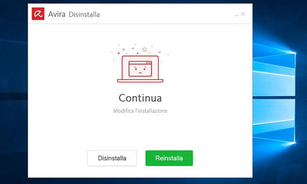 Come disinstallare Avira da Windows