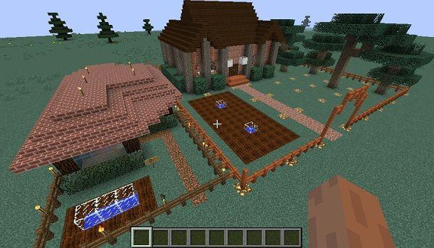 Lastra Di Legno Minecraft : Come costruire una villa su minecraft salvatore aranzulla