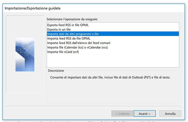 Come importare contatti Outlook per Windows