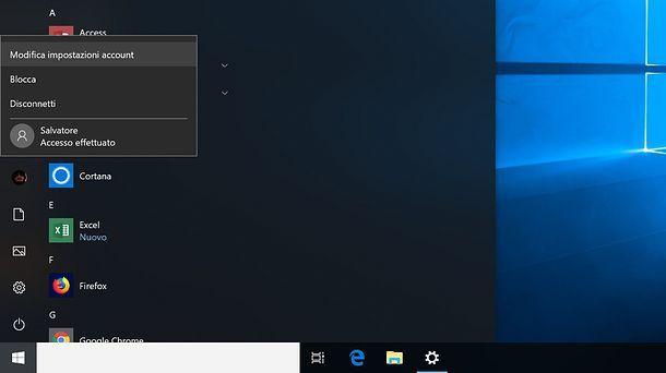 Come togliere la password all'avvio di Windows 10