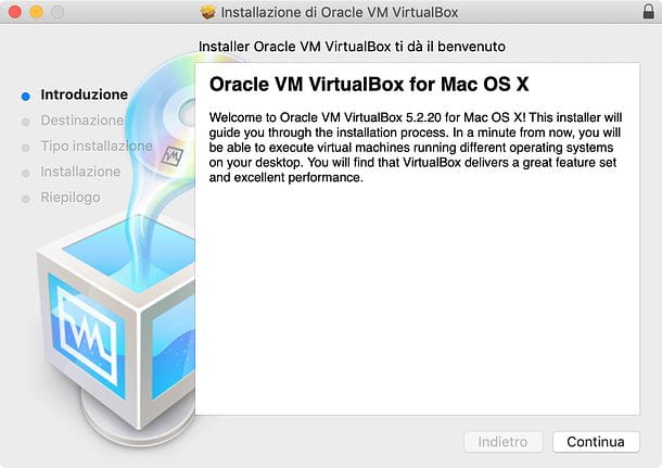 Installazione VirtualBox su Mac