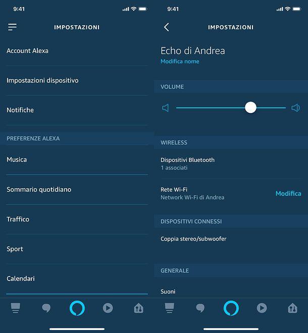 Personalizzazione Amazon Echo