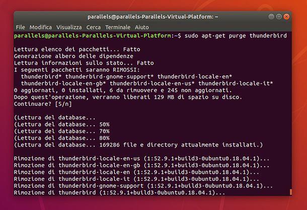 Come disinstallare un programma su Ubuntu da Terminale