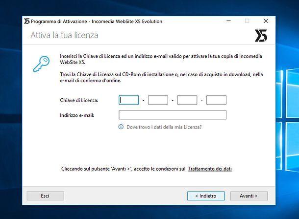 Installazione WebSite X5