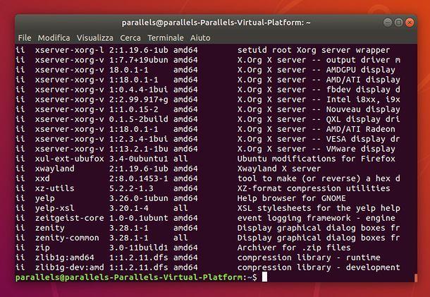 Lista pacchetti Ubuntu da Terminale