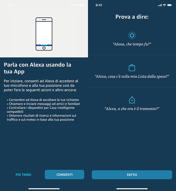 Alexa su smartphone