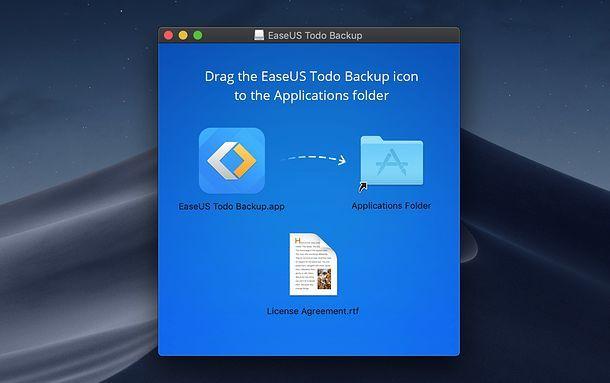 Installazione EaseUS Todo Backup Mac