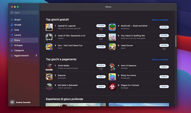 Mac App Store Giochi PC gratuiti