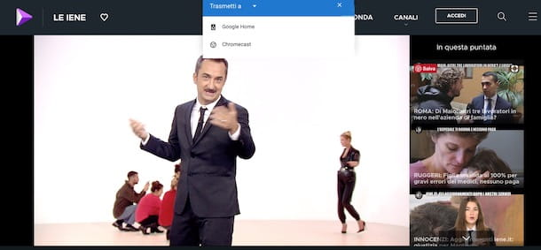 da mediaset play con chrome