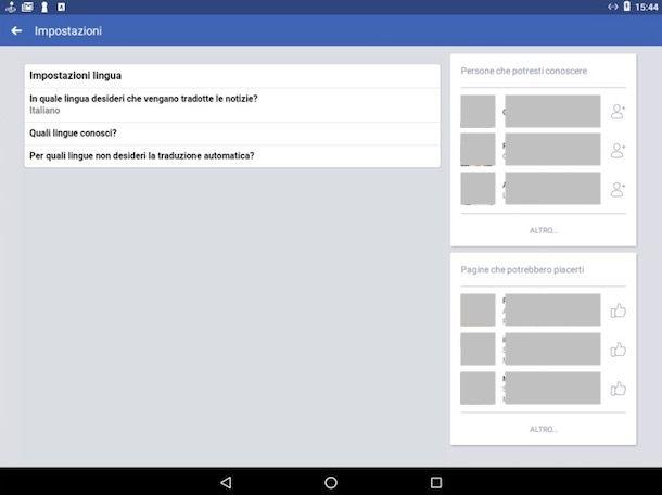 Come cambiare lingua su Facebook da cellulare