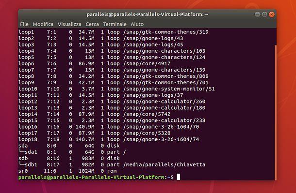 Terminale di Ubuntu