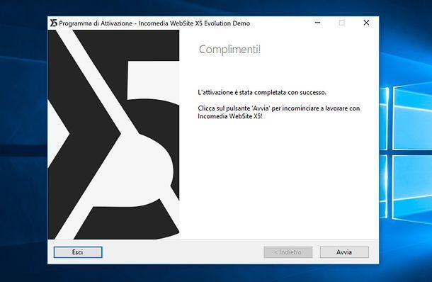 Attivazione demo WebSite X5